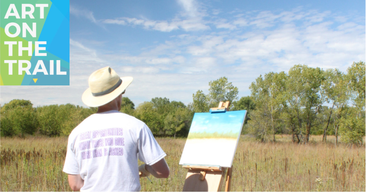 art on the trail banner
