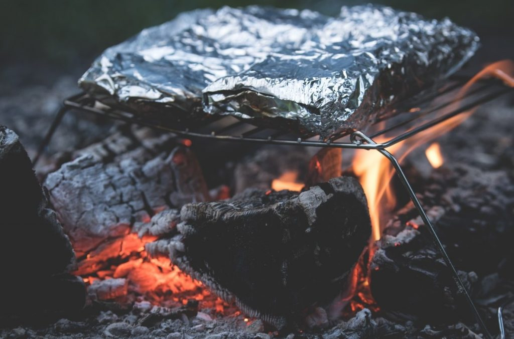 cooking campfire