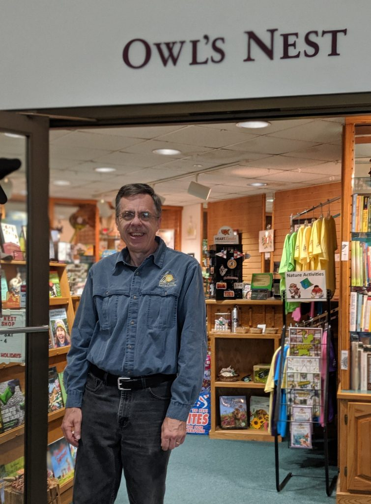 Richard Wilson, Gift Shop Manager. Reach him at richard@gpnc.org.