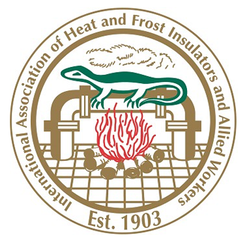International Association of Heat and Frost emplem with salamander still used today.